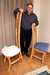 Joe Lawlor with the chairs that President Clinton used..Picture: Newsfile