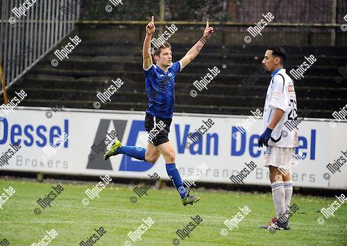 2016-01-31 / Voetbal / Seizoen 2015-2016 / Rupel-Boom - RU Ciney / Jonas Laureys scoorde de 2-1<br /> <br /> Foto: Mpics.be