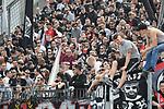 14.04.2018, BayArena, Leverkusen , GER, 1.FBL., Bayer 04 Leverkusen vs. Eintracht Frankfurt<br /> im Bild / picture shows: <br /> Fans, freundlich, Stimmung, farbenfroh, Nationalfarbe, geschminkt, Emotionen, Frankfurt<br /> <br /> <br /> Foto &copy; nordphoto / Meuter