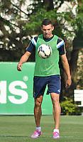 SÃO PAULO.SP.23.10.2014 -  PALMEIRAS TREINO - Lucio zagueiro do Palmeiras durante o treino na Academia de Futebol zona Oeste nesta quinta-feira 23. ( Foto: Bruno Ulivieri / Brazil Photo Press )
