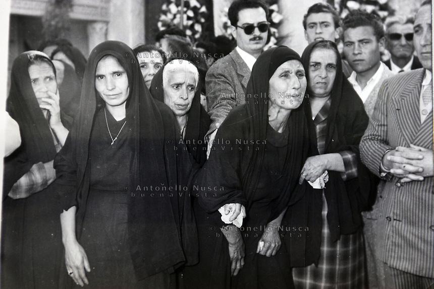 Una foto del funerale di Placido Rizzotto