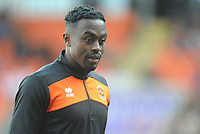 Blackpool's Joe Dodoo during the pre-match warm-up <br /> <br /> Photographer Kevin Barnes/CameraSport<br /> <br /> The EFL Sky Bet League One - Blackpool v Southend United - Saturday 9th March 2019 - Bloomfield Road - Blackpool<br /> <br /> World Copyright © 2019 CameraSport. All rights reserved. 43 Linden Ave. Countesthorpe. Leicester. England. LE8 5PG - Tel: +44 (0) 116 277 4147 - admin@camerasport.com - www.camerasport.com