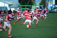 Action from the Hurricanes 1st XV Life Members' Cup rugby final between Hutt International Boys' High School and Lindisfarne College at CET Stadium in Palmerston North, New Zealand on Saturday, 31 August 2019. Photo: Dave Lintott / lintottphoto.co.nz