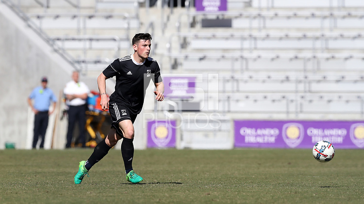 Orlando, Florida - Wednesday January 17, 2018: Lucas Stauffer. Match Day 3 of the 2018 adidas MLS Player Combine was held Orlando City Stadium.