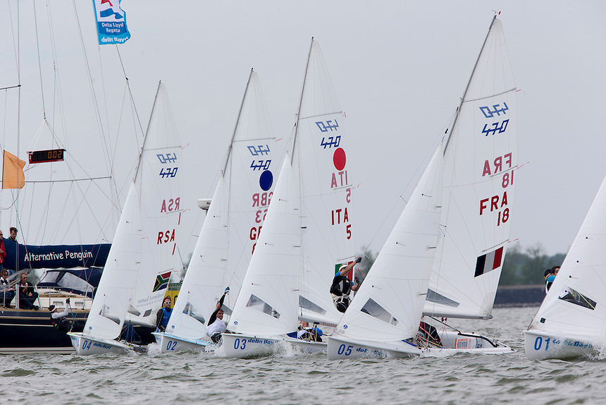 Asenathi JIM and  Roger HUDSON win the 470 class, may 24th, Delta Lloyd Regatta  2014 (20/24 May 2014). Medemblik - the Netherlands.