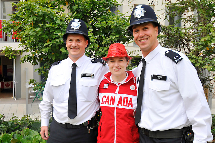 LONDON, ENGLAND – 08/26/2012:  Julie Hutsebaut at Canada's Pep-Rally before the London 2012 Paralympic Games. (Photo by Matthew Murnaghan/Canadian Paralympic Committee)