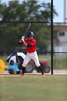Ben Rozenblum (61) of Calvary Christian Academy in Coral Springs, Florida during the Under Armour Baseball Factory National Showcase, Florida, presented by Baseball Factory on June 12, 2018 the Joe DiMaggio Sports Complex in Clearwater, Florida.  (Nathan Ray/Four Seam Images)