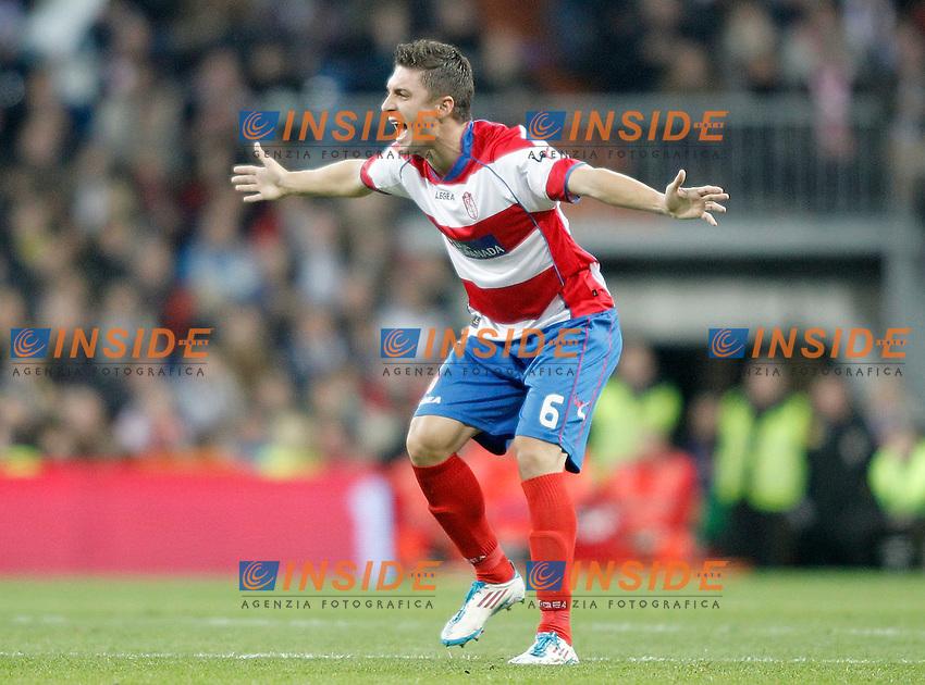 Granada's Guilherme Siqueira reacts during La Liga Match. January 07, 2012. Insidefoto / Alvaro Hernandez / Alterphotos