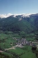 Europe/France/Midi-Pyrénées/09/Ariège/Aulus: La vallée de Garbet Vue aérienne