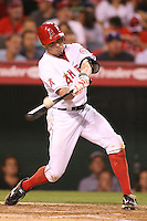 08/16/11 Anaheim, CA: Los Angeles Angels center fielder Peter Bourjos #25 during an MLB game played between the Texas Rangers and the Los Angeles Angels at Angel Stadium. The Rangers defeated the Angels 7-3.
