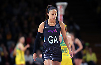11.10.2017 Silver Ferns Maria Tutaia in action during the Constellation Cup netball match between the Silver Ferns and Australia at Titanium Security Arena in Adelaide. Mandatory Photo Credit ©Michael Bradley.