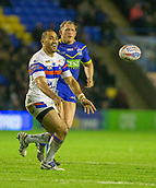 23rd March 2018, Halliwell Jones Stadium, Warrington, England; Betfred Super League rugby, Warrington Wolves versus Wakefield Trinity; Bill Tupou releases the ball