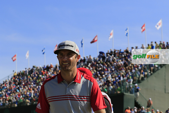Dustin JOHNSON (USA) walks off the 9th green during Saturday's Round 3 of the 2015 U.S. Open 115th National Championship held at Chambers Bay, Seattle, Washington, USA. 6/21/2015.<br /> Picture: Golffile | Eoin Clarke<br /> <br /> <br /> <br /> <br /> All photo usage must carry mandatory copyright credit (&copy; Golffile | Eoin Clarke)