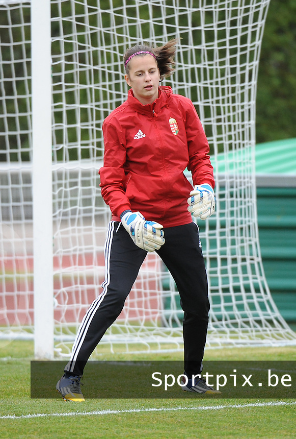 20160319 - BAYEUX , FRANCE : Hungarian Luca Barti pictured during the soccer match between the women under 17 teams of The Republic of Ireland and Hungary , on the first matchday in group 3 of the UEFA Women Under17 Elite rounds at Stade Henry Jeanne in Bayeux , France . Saturday 19th March 2016 . PHOTO DIRK VUYLSTEKE