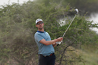 Niklas Lemke (SWE) on the 9th during Round 1 of the Oman Open 2020 at the Al Mouj Golf Club, Muscat, Oman . 27/02/2020<br /> Picture: Golffile   Thos Caffrey<br /> <br /> <br /> All photo usage must carry mandatory copyright credit (© Golffile   Thos Caffrey)