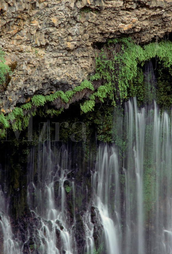 Close up of BURNEY FALLS - NORTHERN, CALIFORNIA