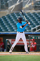 Miami Marlins Ian Lewis (8) at bat during an Instructional League game against the Washington Nationals on September 25, 2019 at Roger Dean Chevrolet Stadium in Jupiter, Florida.  (Mike Janes/Four Seam Images)