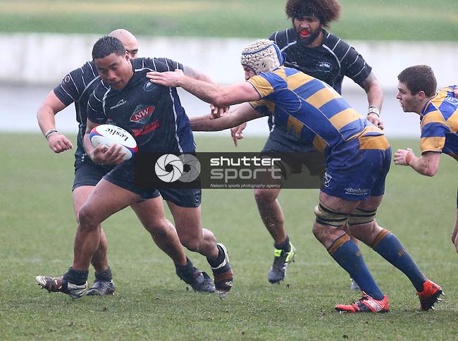 NELSON, NEW ZEALAND - JULY 18: Div 1  Rugby Final Trafalgar Park Kahurangi v Wanderers  on July 18, 2015 in Nelson, New Zealand. (Photo by: Evan Barnes Shuttersport Limited)