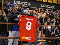 Santa Clara, Ca - Saturday, March 10, 2014: The San Jose Earthquakes defeat FC Dallas 2-1 at Buck Shaw Stadium.