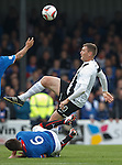 Lee McCulloch gets a friendly challenge in on Kevin Kyle