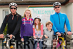 L-R Denis Crawley from Mallow, Shannon Kelly, Caoimhe Kelly, Lee Kelly all from Barrduff and John O'Connell from Mallow at the Barduff National School 80 km  Resource Cycle to raise the funds for school in Barrduff last Sunday morning.