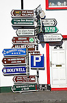 Signposts at Ballyvaughan, County Clare, Ireland