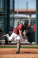 Connor Donohue (20) of Missoula, Montana during the Baseball Factory All-America Pre-Season Tournament, powered by Under Armour, on January 14, 2018 at Sloan Park Complex in Mesa, Arizona.  (Zachary Lucy/Four Seam Images)