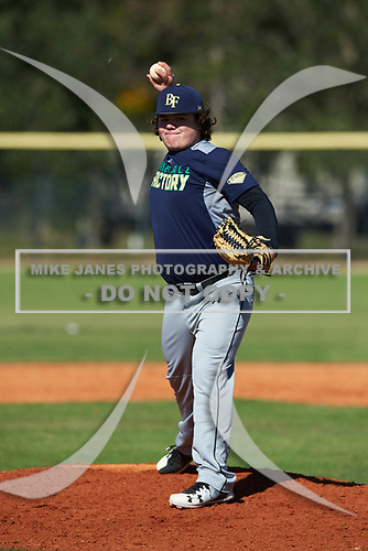 Creed Willems (11) from Aledo, Texas during the Baseball Factory All-America Pre-Season Rookie Tournament, powered by Under Armour, on January 14, 2018 at Lake Myrtle Sports Complex in Auburndale, Florida.  (Michael Johnson/Four Seam Images)