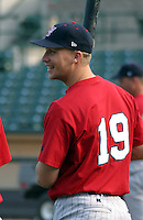 August 21, 2003:  Third baseman Travis Chapman (19) of the Scranton Wilkes-Barre Red Barons, Class-AAA affiliate of the Philadelphia Phillies, during a International League game at Frontier Field in Rochester, NY.  Photo by:  Mike Janes/Four Seam Images
