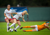 STANFORD, CA - November 23, 2018: Civana Kuhlmann at Laird Q. Cagan Stadium. The top seeded Stanford Cardinal defeated the Tennessee Volunteers 2-0 in the Quarterfinal of the NCAA tournament.