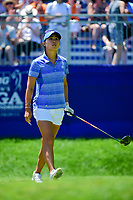 Danielle Kang (USA) watches her tee shot on 1 during Sunday's final round of the 2017 KPMG Women's PGA Championship, at Olympia Fields Country Club, Olympia Fields, Illinois. 7/2/2017.<br /> Picture: Golffile | Ken Murray<br /> <br /> <br /> All photo usage must carry mandatory copyright credit (&copy; Golffile | Ken Murray)