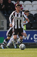 Kenny McLean in the St Mirren v Hibernian Clydesdale Bank Scottish Premier League match played at St Mirren Park, Paisley on 29.4.12.
