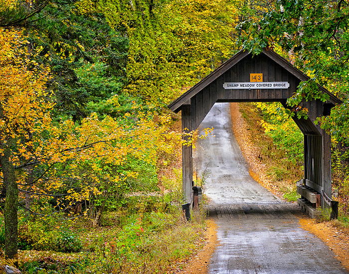 Swamp Meadow Covered Bridge in Early Fall