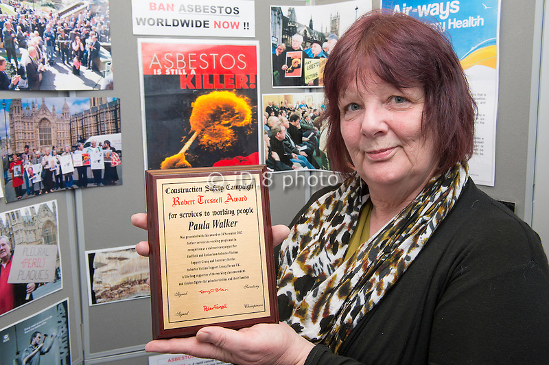 Paula Walker from SARAG received the Robert Dressell Award for her services to working people