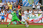 20.07.2017, Silberstadt Arena, Schwaz, AUT, FSP, Borussia M&ouml;nchengladbach vs Leeds United, im Bild Patrick Herrmann (Gladbach #7), Kalvin Phillips (Leeds #23)<br /> <br /> Foto &copy; nordphoto / Hafner