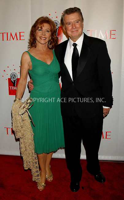 WWW.ACEPIXS.COM . . . . . ....NEW YORK, MAY 8, 2006....Regis Philbin and Joy Philbin at Time Magazine's 100 Most Influential People 2006.....Please byline: KRISTIN CALLAHAN - ACEPIXS.COM.. . . . . . ..Ace Pictures, Inc:  ..(212) 243-8787 or (646) 679 0430..e-mail: picturedesk@acepixs.com..web: http://www.acepixs.com