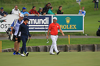 Matthew Fitzpatrick (ENG) and Andy Sullivan (ENG) on the 18th fairway during Round 2 of the 100th Open de France, played at Le Golf National, Guyancourt, Paris, France. 01/07/2016. <br /> Picture: Thos Caffrey | Golffile<br /> <br /> All photos usage must carry mandatory copyright credit   (&copy; Golffile | Thos Caffrey)