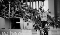Paris-Roubaix 2012 ..winner Tom Boonen enters the Roubaix Velodrome as a winner for a record 4th time; stuff for legends
