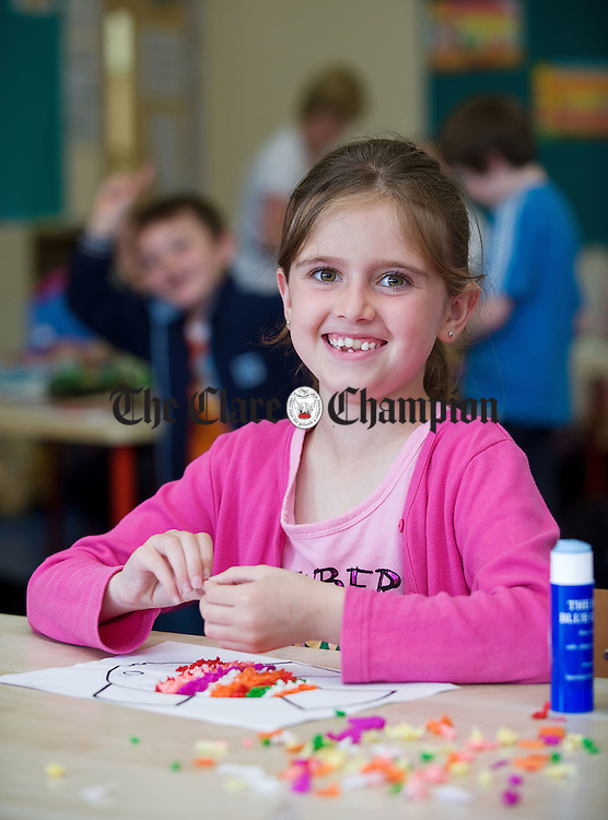 Siobhan Tuohy in class at Feakle National School. Photograph by John Kelly.