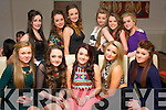 TEENAGER: Katie Cahill, Manor, Tralee (seated centre) had a blast in La Scala, Tralee last Saturday night to celebrate her 15th birthday (seated) L-R Amy O'Mahony, Geri O'Carroll, Katie Cahill, Faith Cox & Shauna Kealy (back) L-R Jenny Godley, Sophie Cleary, Claire Shanahan, Sarah Healy, Darlene Lacey & Ciara Greensmyth.