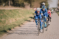 Philippe Gilbert (BEL/Quick Step floors) leading the way<br /> <br /> 50th GP Samyn 2018<br /> Quaregnon &gt; Dour: 200km (BELGIUM)