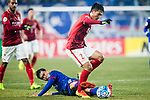 Suwon Midfielder Lee Yongrae (L) fights for the ball with Guangzhou Midfielder Liao Lisheng (R4) during the AFC Champions League 2017 Group G match Between Suwon Samsung Bluewings (KOR) vs Guangzhou Evergrande FC (CHN) at the Suwon World Cup Stadium on 01 March 2017 in Suwon, South Korea. Photo by Victor Fraile / Power Sport Images