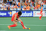 The Hague, Netherlands, June 10: Mengyu Wang #2 of China flicks the ball up during the field hockey group match (Women - Group B) between Argentina and China on June 10, 2014 during the World Cup 2014 at GreenFields Stadium in The Hague, Netherlands. Final score 1-1 (yy-yy) (Photo by Dirk Markgraf / www.265-images.com) *** Local caption ***