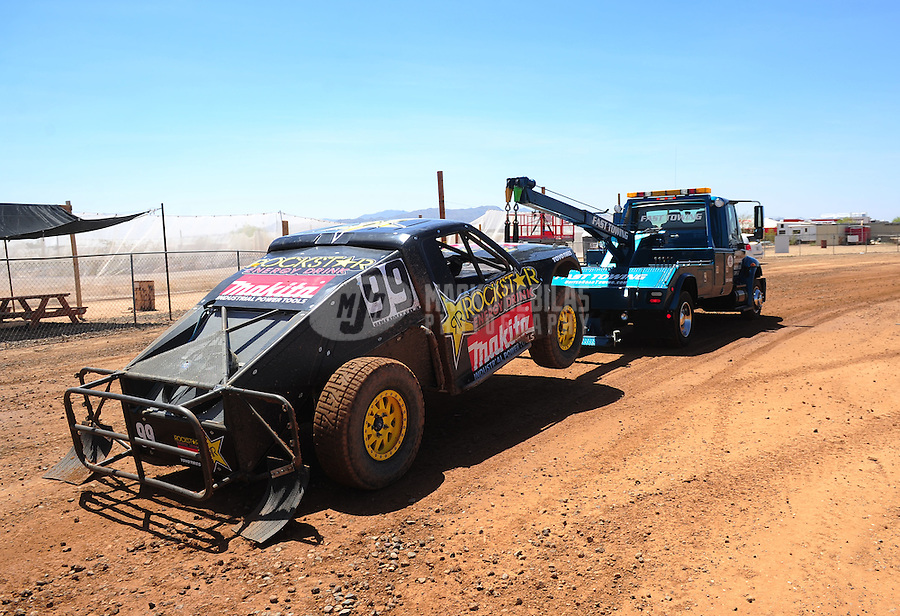 Apr 15, 2011; Surprise, AZ USA; LOORRS driver Kyle Leduc (99) during round 3 and 4 at Speedworld Off Road Park. Mandatory Credit: Mark J. Rebilas-.
