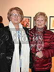 Mary Moore and Bridie McAuley at Seán Tester's show in the Droichead Arts Centre. Photo:Colin Bell/pressphotos.ie