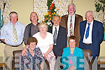 Catching up on old times at the Mid Kerry Mart 50th anniversary social in the Malton Hotel Killarney on Friday night was front row l-r: Hazel Blennerhasset, Joan Griffin, Kathleen Hobbins. Back row: Eamon Hobbins, James Griffin, Daniel O'Connor, Tom Blennerhasset and Pat McGillicuddy Killorglin