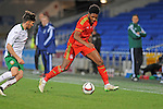 UEFA Under 21 Championship Qualifier - Wales v Bulgaria at the Cardiff City Stadium, UK :<br /> Ellis Harrison of Wales Under 21's is challenged by Hristo Popadyin of Bulgaria Under 21's.
