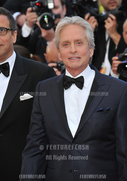"Michael Douglas at gala premiere for his movie ""Behind the Candelabra"" at the 66th Festival de Cannes..May 21, 2013  Cannes, France.Picture: Paul Smith / Featureflash"