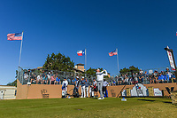 Jim Furyk (USA) watches his tee shot on 10 during Round 4 of the Valero Texas Open, AT&amp;T Oaks Course, TPC San Antonio, San Antonio, Texas, USA. 4/22/2018.<br /> Picture: Golffile | Ken Murray<br /> <br /> <br /> All photo usage must carry mandatory copyright credit (&copy; Golffile | Ken Murray)