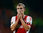 Nederland, Almelo, 20 oktober 2012.Eredivisie.Seizoen 2012-2013.Heracles Almelo-Ajax (3-3).Siem de Jong, aanvoerder van Ajax, verlaat teleurgesteld het veld